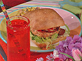 Paella Burgers and Spanish Succotash
