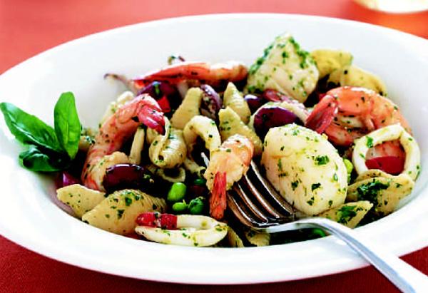 Seafood Pesto Pasta