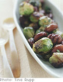 Brussels Sprouts with Chestnuts and Honey Mustard Dressing