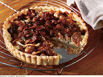 Caramelized Onion and Bacon Tart