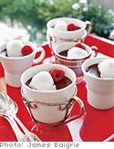 Chocolate Pot de Creme with Vanilla Ice Cream