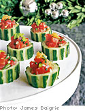 Tuna Tartare in Cucumber Cups