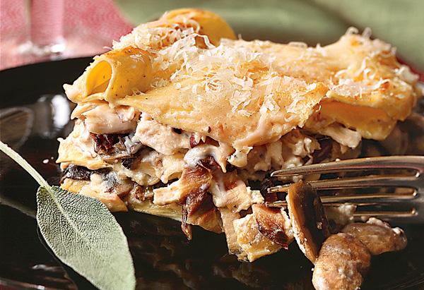 Chicken, Mushroom and Radicchio Lasagna recipe
