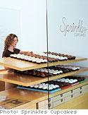 bakery window cupcake display