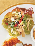 Chinese Chicken Salad in Lettuce Cups