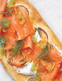 Smoked Salmon and Dill Pizza