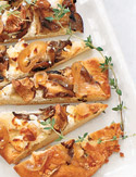 Mushroom, Goat Cheese and Caramelized-Shallot Pizza