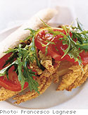 Buster Crab, Lettuce and Tomato Po'boy