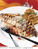 Grilled Redfish with Red Rice and Lemon Butter Sauce