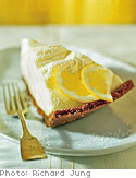 Lemon Cream Tart with Gingersnap Crust