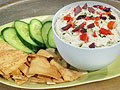 Feta Dip with Cucumber and Pita Chips