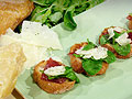 Bresaola Crostini with Baby Arugula