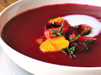 Beet Soup with Buttermilk and Marjoram