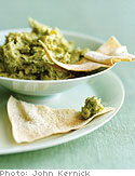 Mint and Pea Hummus with Pita Bread