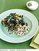 Spicy Black-Eyed Peas with Grainy Mustard Collard Greens