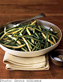 Slow-Roasted Green Beans with Sea Salt and Olive Oil