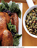 Organic Turkey Stuffed with Brown and Wild Rice, Dried Cranberries and Walnuts