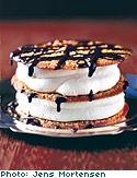 Nibby Napoleons with Chocolate Sauce