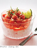 Watermelon Salad with Mint and Lime Dressing