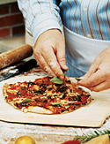 Image of Art Smith's Margherita Pizza With Easy Pizza Dough And Basic Tomato Sauce, Oprah