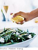Green Beans with Goat Cheese and Fresh Lemon Vinaigrette