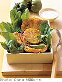 Fried Green Tomato Salad with Homemade Ranch Dressing