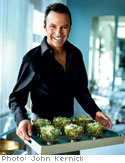 Raw Brussels Sprout Salad with Almonds and Parmesan