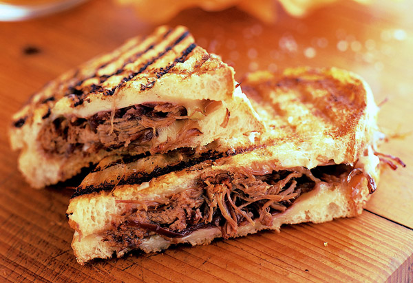 Grilled Cheese and Pulled Short Ribs Sandwich
