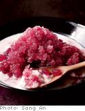 Grape Ice with Almond Puree
