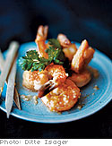 Crispy Shrimp with Ginger and Garlic