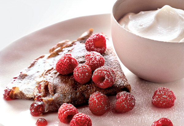 Raspberry Buckwheat Crepes