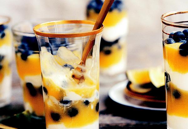 Blueberry-Lime Parfaits