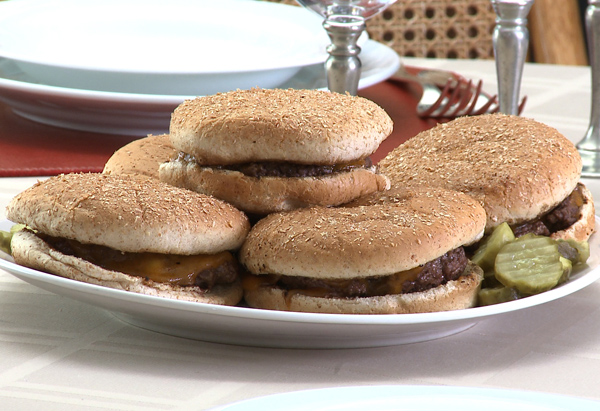 Cristina Ferrare's recipe for No-Fuss Cheeseburgers