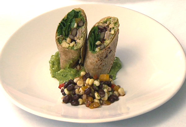 Cristina Ferrare's recipe for Roasted Chicken Wraps