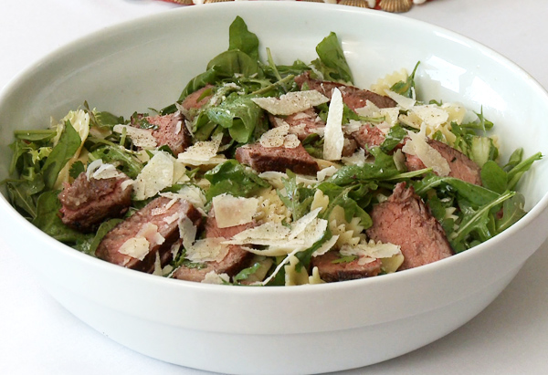 Cristina Ferrare's recipe for Herbed Farfalle and Steak Salad