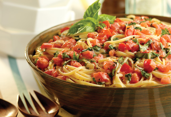 Linguine with Tomatoes and Basil