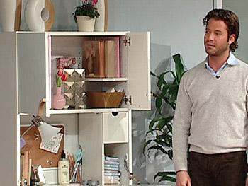 Nate reveals the inside of an IKEA Cyril Secretary.