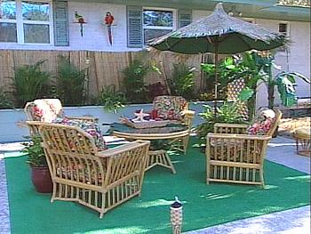 Faux beach hut