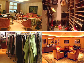 Oprah's office and closet before her makeover.