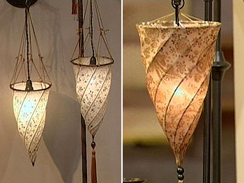 Vern Yip found Italian lamp knockoffs at Pottery Barn.