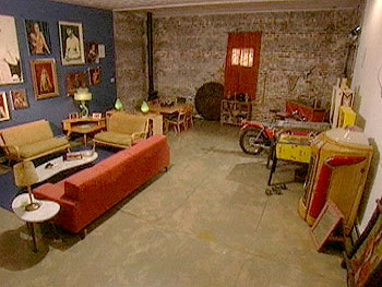 The loft living room before Nate Berkus