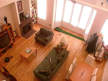 Aerial view of loft before