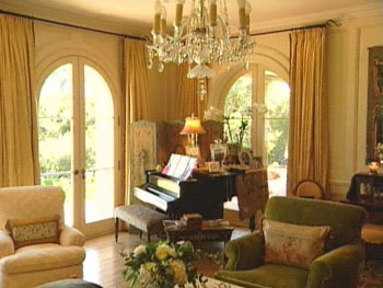 Rob Lowe's piano room