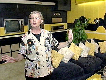 Graceland's TV room