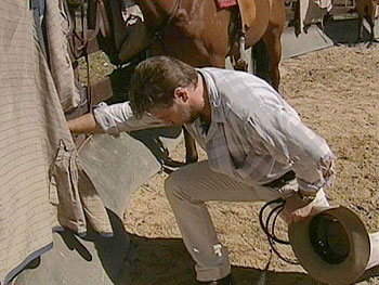 Russell Crowe down on the farm in Australia.