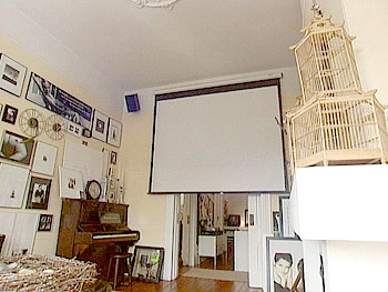 Celia Tejada's private home theater.