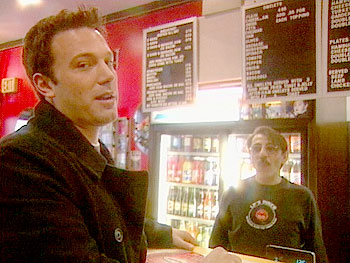 Ben Affleck loves the burgers at Leo's Place.