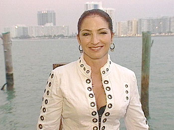 Gloria Estefan loves her ocean view.