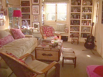 Marg Helgenberger's family room has memories and warmth.