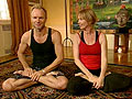 Sting and Trudie start their days with yoga!